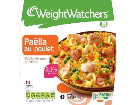 Paella fruits de mer poulet weight watchers 300 g weight watchers livr par - Plat cuisine weight watchers ...