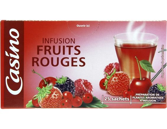 Infusion fruits rouges Casino - 25 sachets