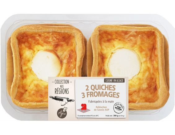 Quiches 3 fromages - 2 x 150 g