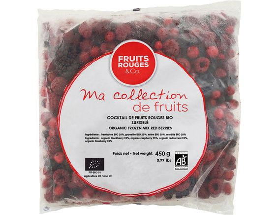 Cocktail de fruits rouges surgelé BIO - 450 g