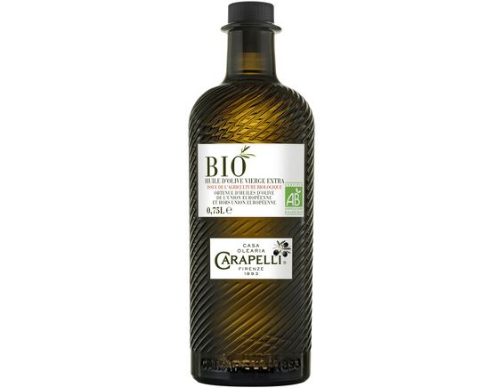 Huile d'olives vierge extra BIO Carapelli - 75 cl