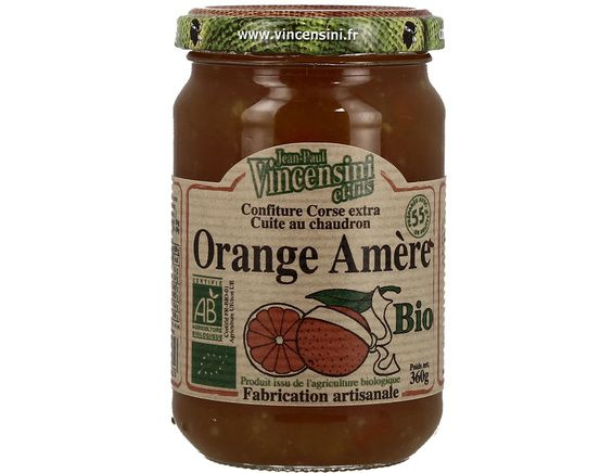 Confiture d'orange amère BIO Castagna di vallerus - 360 g