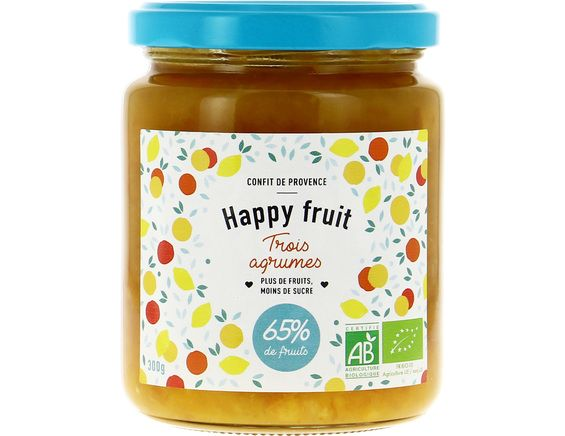 Confiture aux 3 agrumes BIO Happy fruits - 300 g