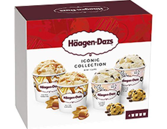 Mini-pots Iconic Selection Häagen-Dazs - 4 x 80 g