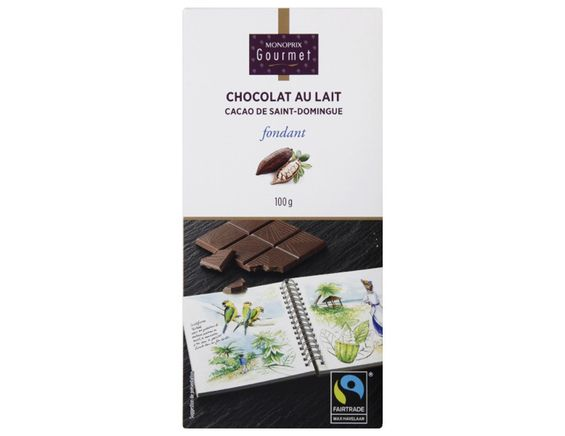 Tablette de chocolat au lait de Saint Domingue Monoprix gourmet - 100 g