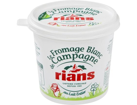 Fromage blanc de campagne Rians - 500 g