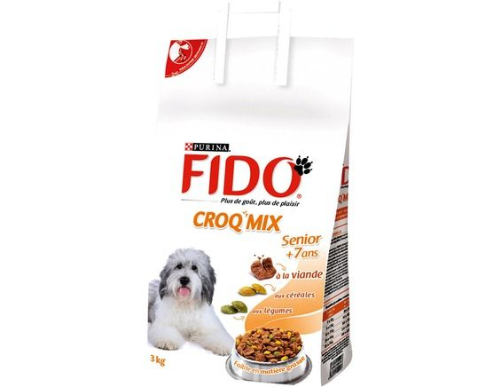 croquettes pour chien fido croq 39 mix senior 7 ans 3 kg fido livr par. Black Bedroom Furniture Sets. Home Design Ideas