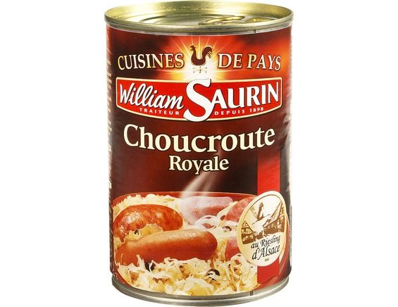 Choucroute Royale Au Riesling D Alsace William Saurin 400 G