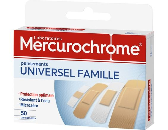 50 pansements universels famille mercurochrome - parapharmacie ... f0a72ed348f2