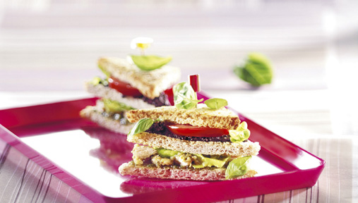 Club sandwich gourmand au poulet