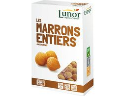 Marrons entiers Lunor - 400 g