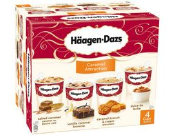 Mini-pots Häagen-Dazs Caramel Attraction - 4 x 86 g