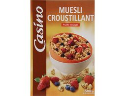 Muesli croustillant fruits rouges Casino - 500 g