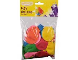 50 ballons ronds assortis