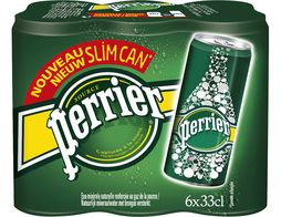 Perrier canettes slim - 6 x 33 cl