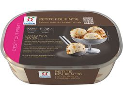 Glace vanille caramel pécan - 517 g / 900 ml