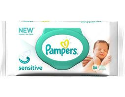 56 lingettes Sensitive Pampers