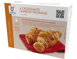 Croissants jambon fromage - 4 x 100 g