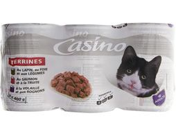 Terrines pour chat Casino - 3 x 400 g