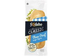 Sandwich Sodebo Baguette thon oeuf salade - 150 g