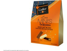 Assortiment de 15 mini-bâtons de chocolat fourrés Galler - 180 g