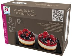 Sablés aux fruits rouges - 2 x 90 g