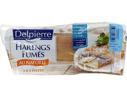 Filets de harengs fumés au naturel Delpierre - 170 g