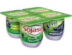 Myrtilles fruits mixés Sojasun - 4 x 100 g