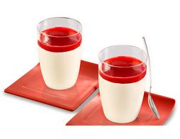 Panna Cotta surgelées sauce aux fruits rouges - 2 x 120 g
