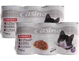 Lot de 6 terrines pour chat Casino - 6 x 400 g