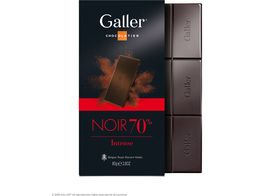 Tablette chocolat noir intense 70% Galler - 80 g