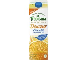 Douceur orange sans pulpe Tropicana - 1 l