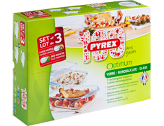Set de 3 plats rectangulaires Pyrex