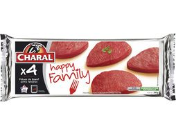 4 pièces de boeuf extra tendres Happy Family Charal - 350 g