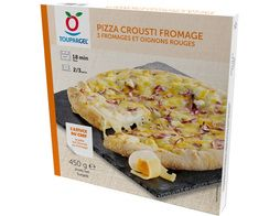 Pizza crousti fromage, 3 fromages et oignons rouges - 450 g