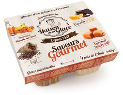 Glace mini-pots assortiment Gourmets - 4 x 85 g / 125 ml