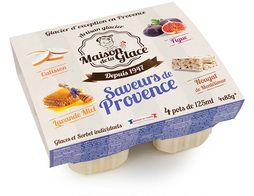 Glace mini-pots assortiment Provence - 4 x 85 g / 125 ml