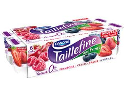 Yaouts Taillefine fruits rouges 0% Danone - 8 x 125 g