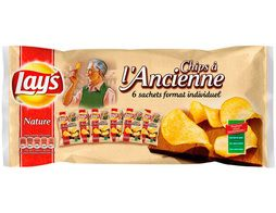 Chips Lay's à l'ancienne nature - 6 x 27,5 g