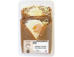 Galette complète oeuf jambon fromage - 2 x 150 g