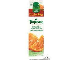 Jus d'orange avec pulpe 100% pur fruit pressé Tropicana - 1,1 l