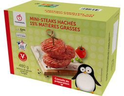 Mini-steaks hachés surgelés origine France 15% M.G. - 480 g