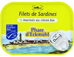 Filets de sardines au citron Phare d'Eckmuhl - 90 g