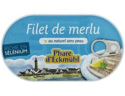 Filet de merlu au naturel sans peau Phare d'Eckmuhl - 150 g