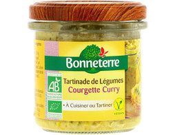 Terrine de courgettes et curry BIO vegan Bonneterre - 135 g
