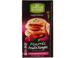 Cookies fourrés aux fruits rouges BIO vegan Moulin du Pivert - 175 g