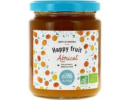 Confiture d'abricot BIO Happy fruits - 300 g