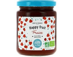 Confiture de fraise BIO Happy fruits - 300 g