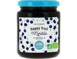 Confiture de myrtille BIO Happy fruits - 300 g