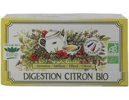 Infusion digstion au citron BIO Romon nature - 20 sachets